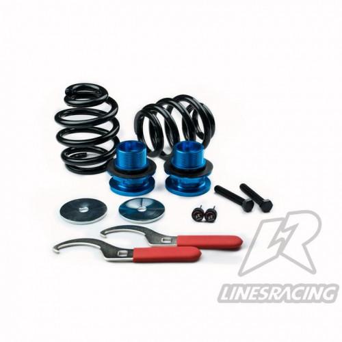 Комплект винтовой подвески (койловеров) Linesracing (LR) Nissan Silvia S13 (1988-1994) с регулировками высоты (фултап), жесткости (36 регулировок), развала, SD-013