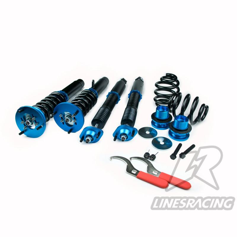 Винтовая подвеска (койловеры) Linesracing LR PREVIA XR10/XR20 (1990-2000), регулируемые по высоте (фултап), жесткости (36 регулировок)и развалу (см хар-ки), SD-081