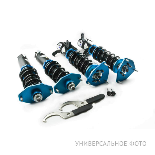 Винтовая подвеска (койловеры) LinesRacing Honda Odyssey 4 поколение (MK4) (2008-2013) с регулировками высоты (фултап), жесткости (36 регулировок), развала (см характеристики), SD-075